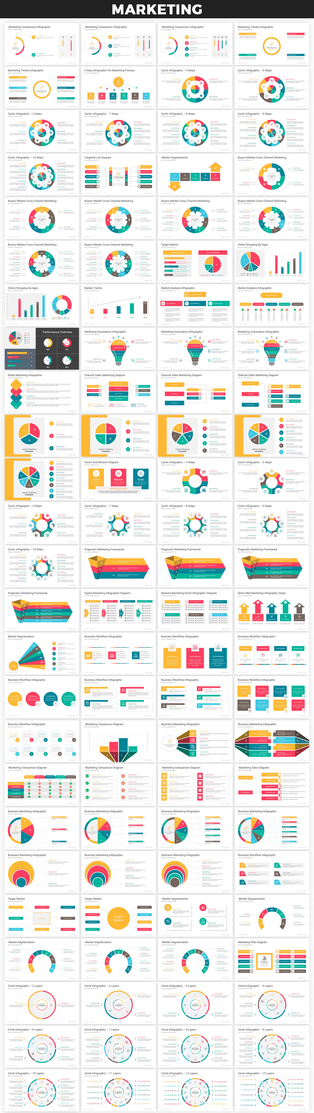 Infographics PowerPoint Bundle - 3