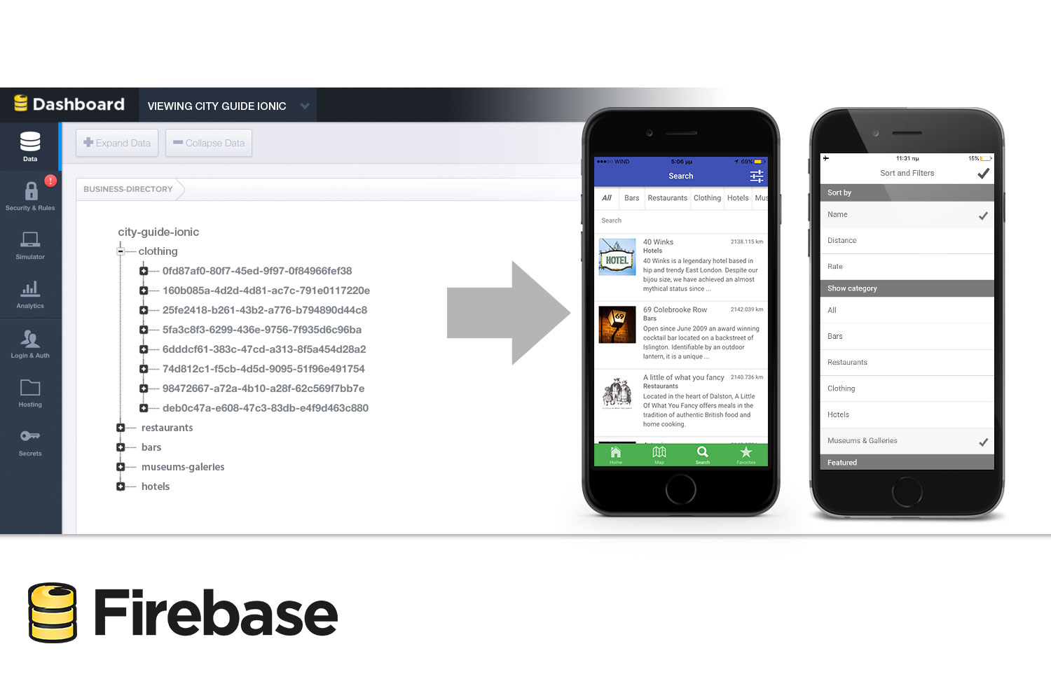 City Guide Ionic - Full Application with Firebase backend - 7