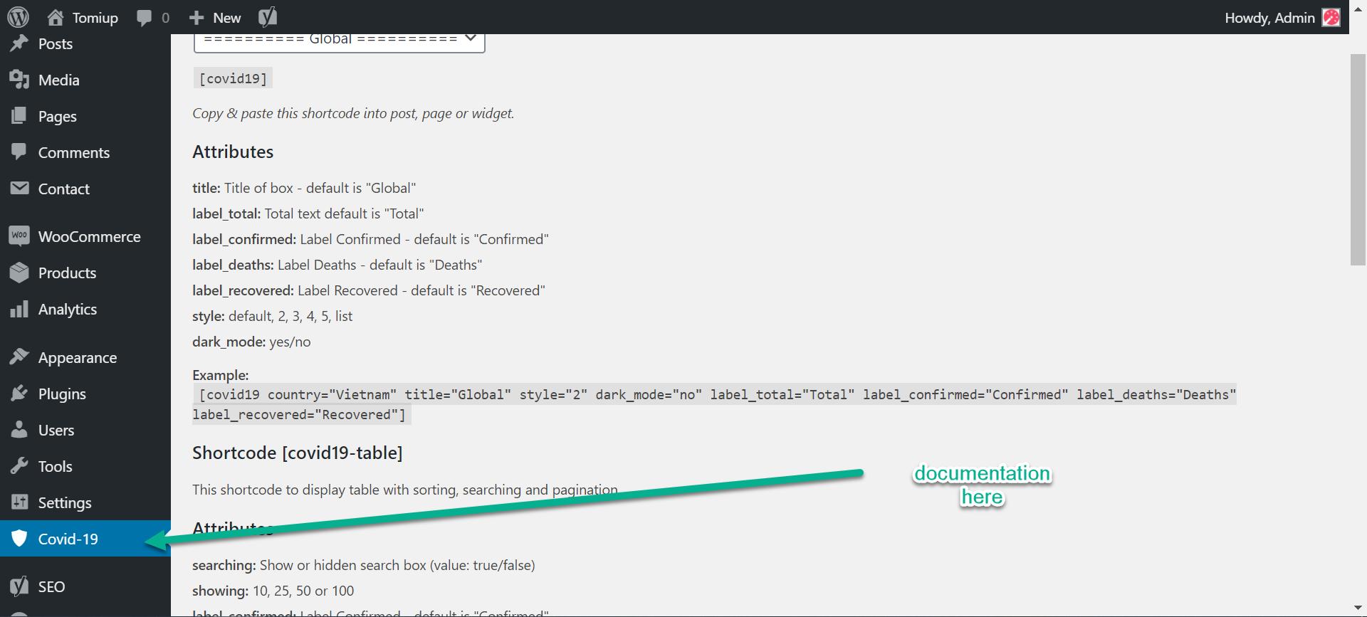 Covid-19 plugin wordpress