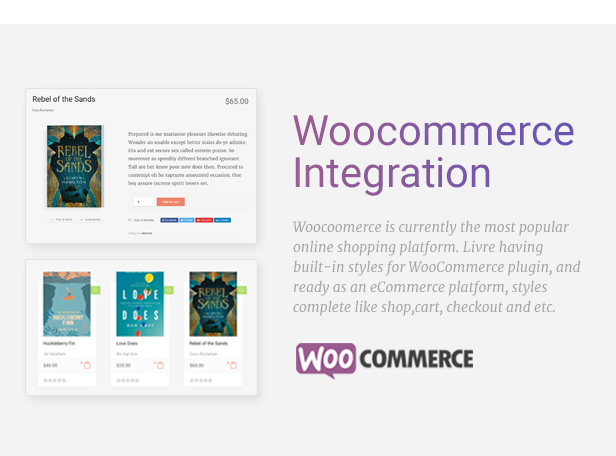 Livre Woocommerce Theme For Book Store