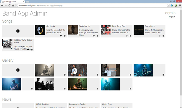 Musician - A Music Band Android App - 6