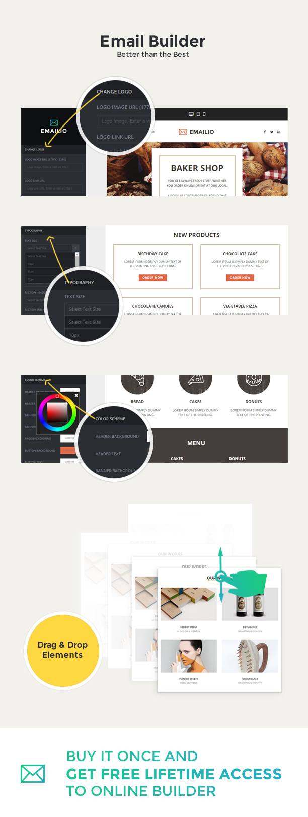 Emailio Responsive Multipurpose Email Template With Online