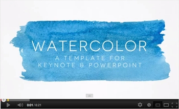 watercolor powerpoint template83munkis | graphicriver, Modern powerpoint