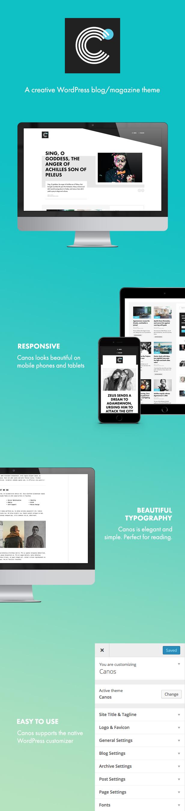 Canos - A Creative WordPress Blog Theme