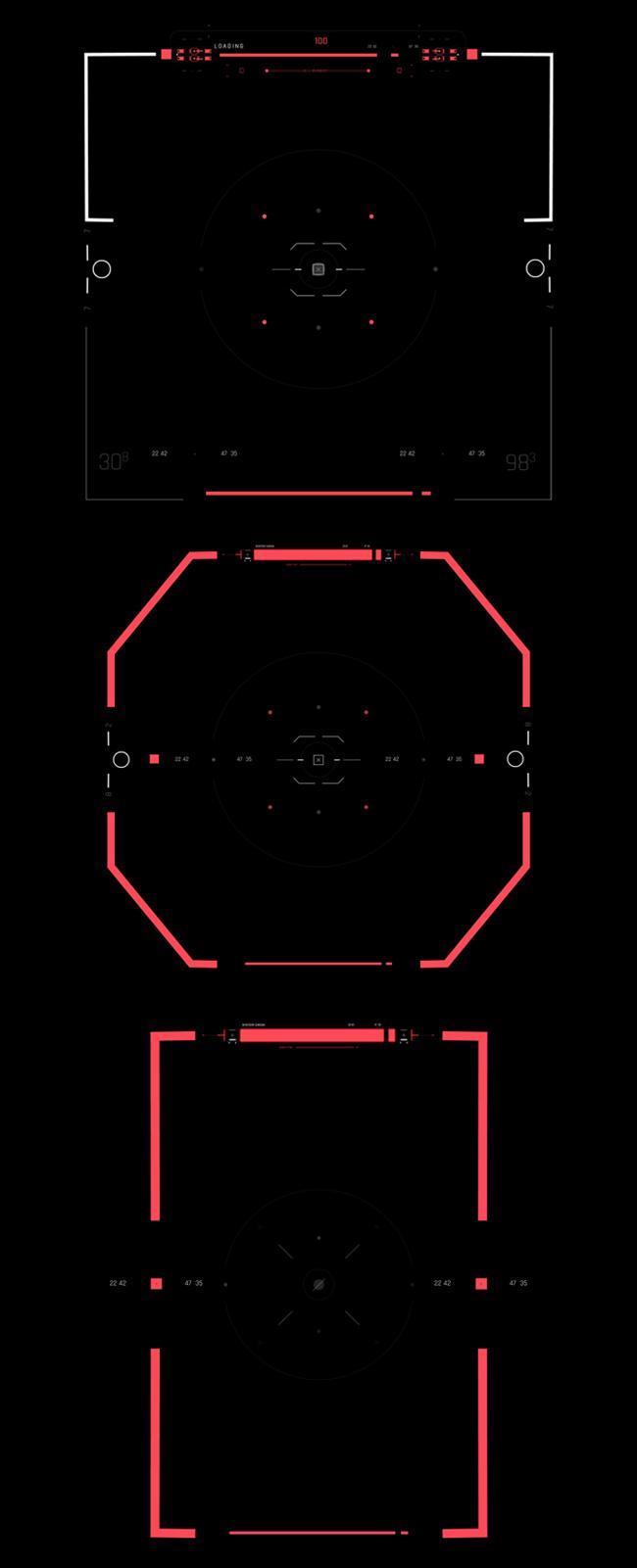 AE脚本-500个HUD高科技赛博朋克UI科幻界面元素动画预设包 Cyberpunk HUD UI 500+ 已修复中文版AE表达式报错插图20