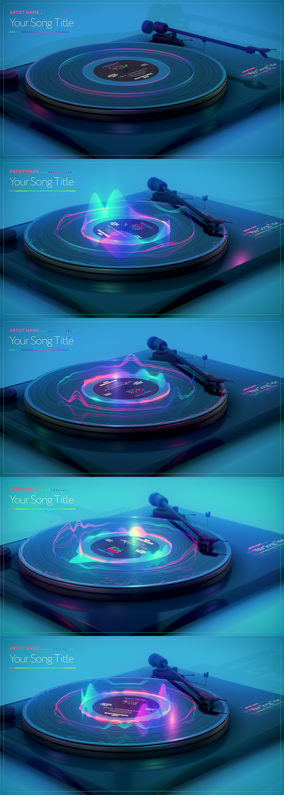 Turntable Music Visualizer - 2