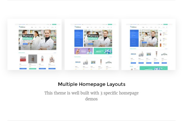 Medicare Pharmacies healthcare wordpress theme multiple homepage layouts