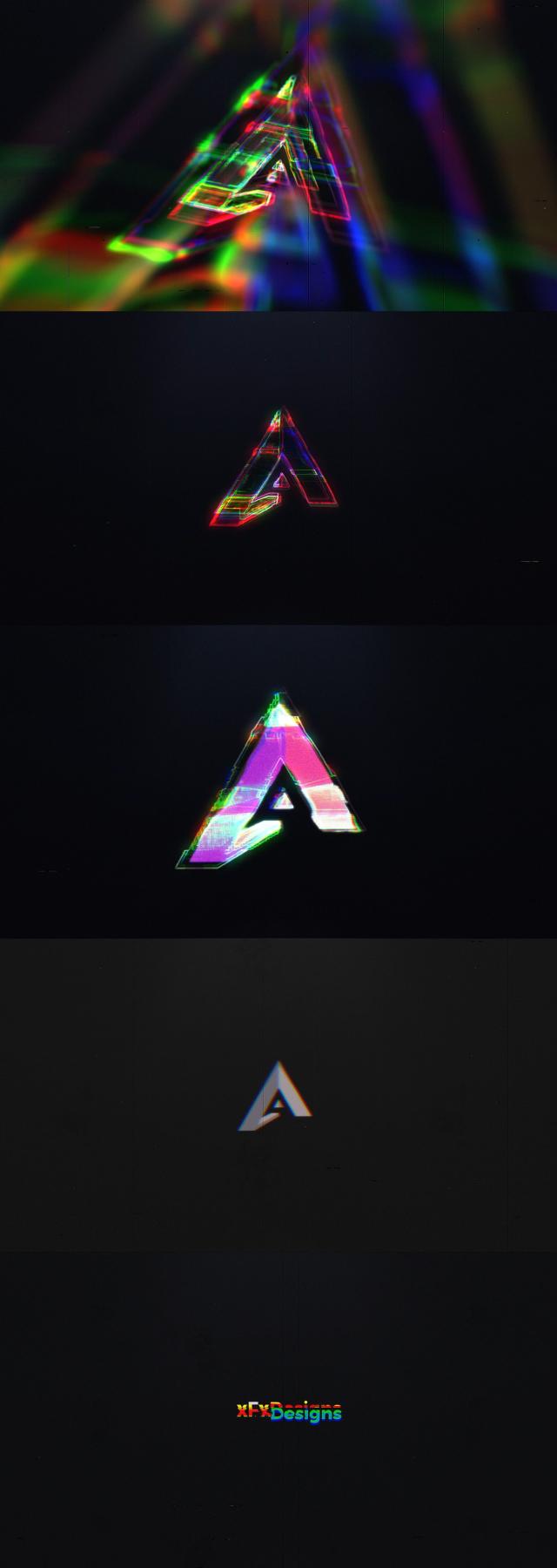 Digital Glitch Logo - 1