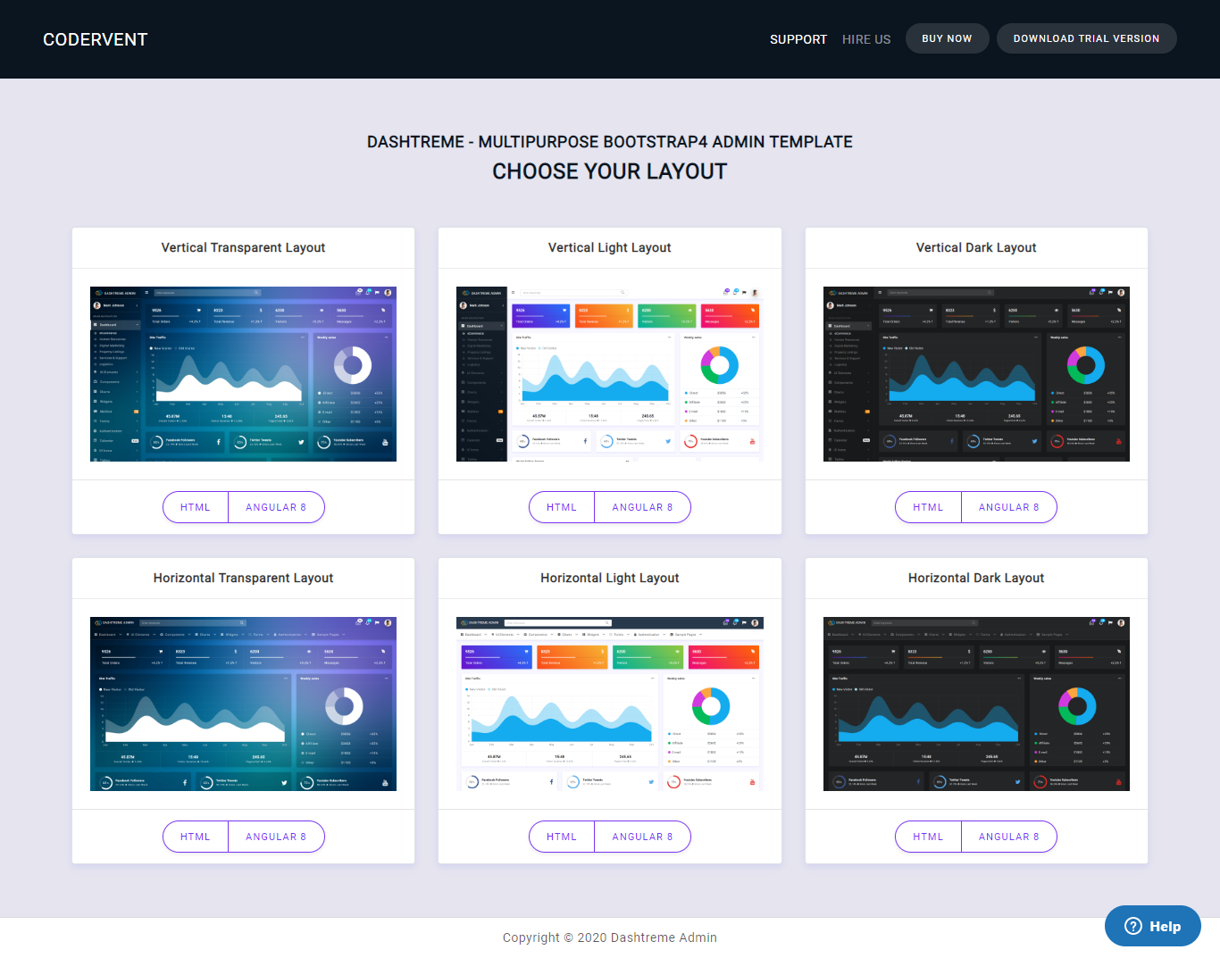 Dashtreme - Multipurpose Bootstrap4 Admin Template - Admin Templates Site Templates