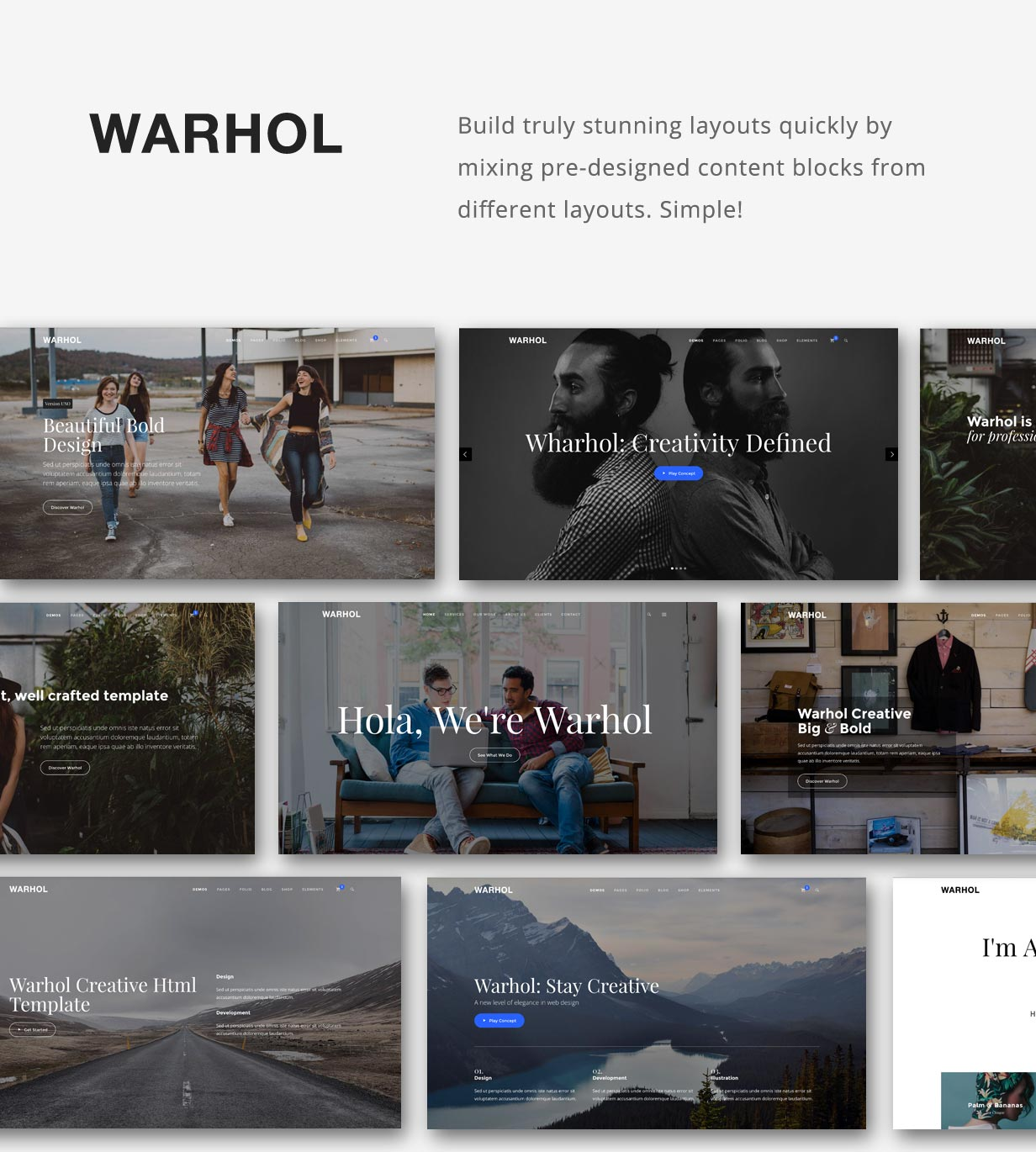 Warhol - Creative Multipurpose HTML Template - 1