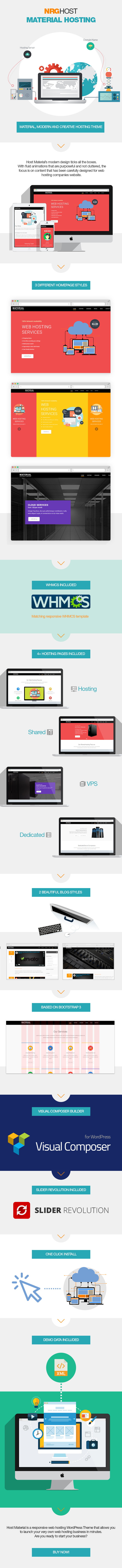 Material Hosting WordPress Theme