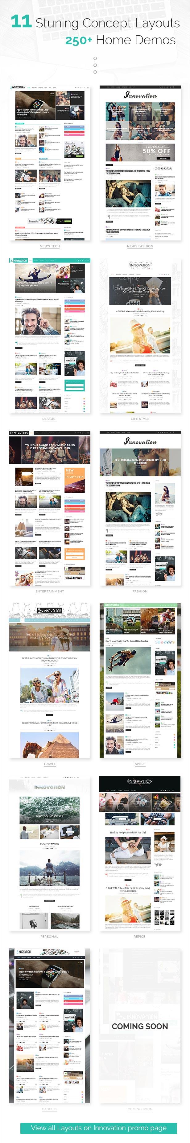 Innovation Multi Concept News Magazine Blog Theme By Theme Ruby