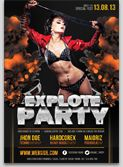 Explote party Flyer Template