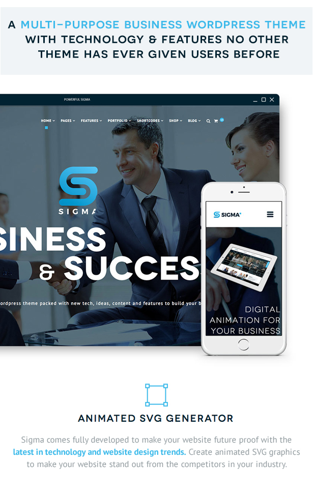SIGMA | Business Multi-purpose & Latest Technology Responsive WordPress  Theme