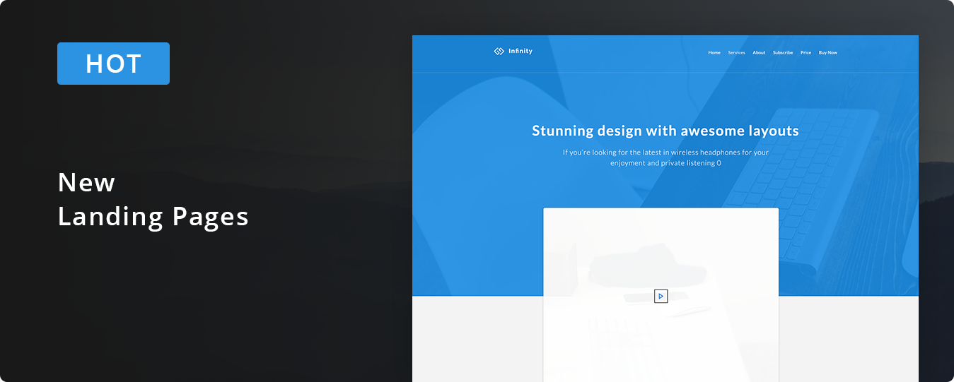 Infinity - Responsive Web App Kit by Ra-Themes | ThemeForest