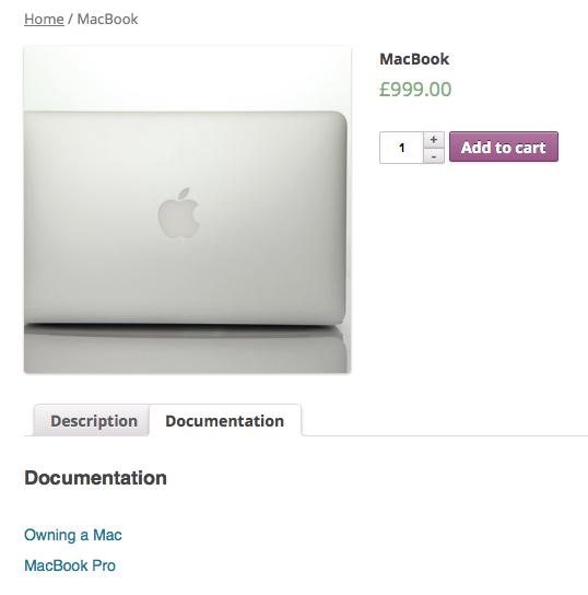 Documentation Product Tab