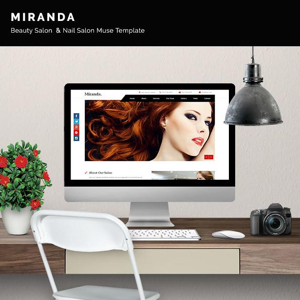Miranda - Beauty Salon, Nail Salon Template - 6