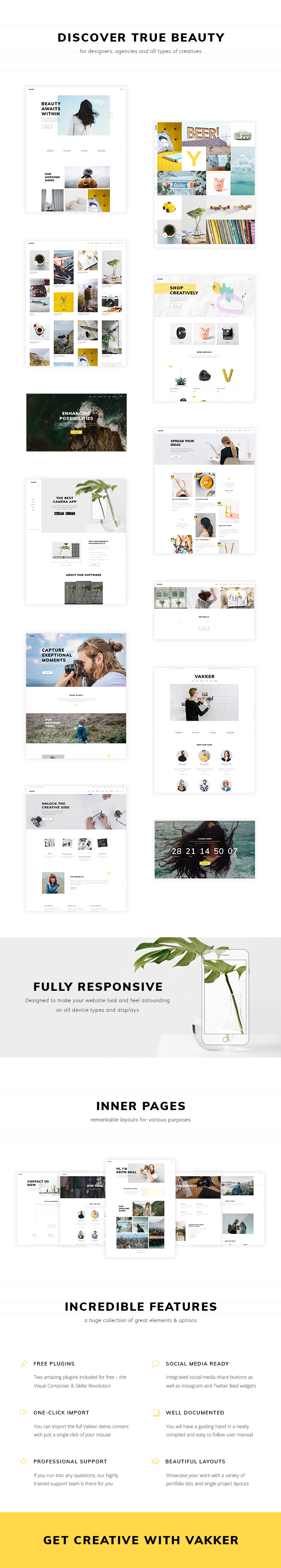 Vakker - A Creative Theme for Designers and Agencies - 1