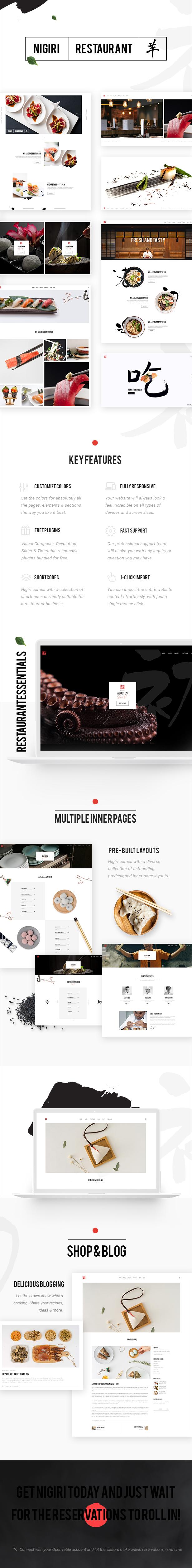 Nigiri - A Modern Restaurant WordPress Theme - 1
