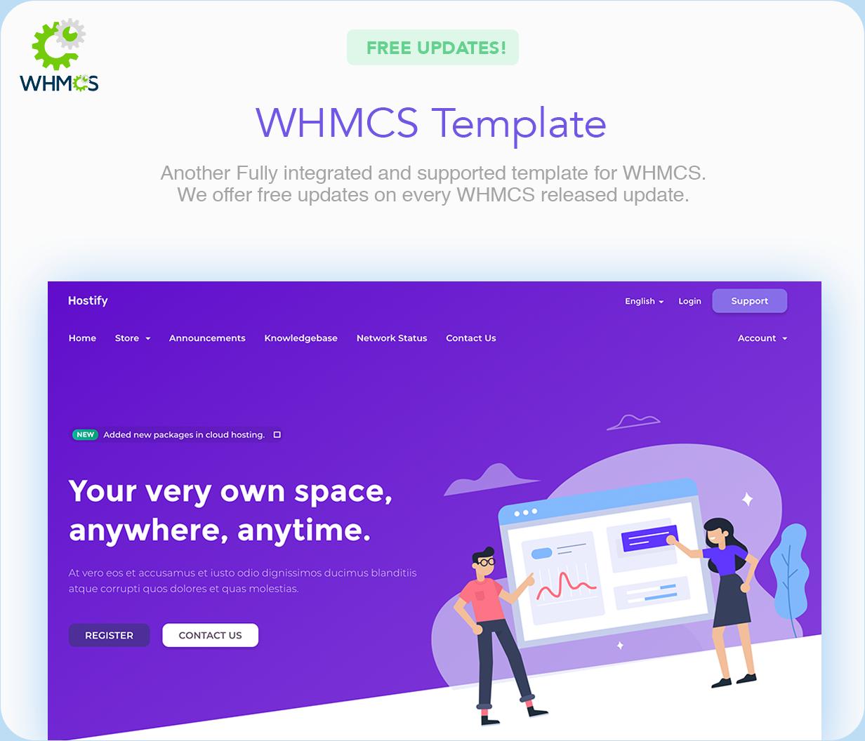 Hostify — Hosting HTML & WHMCS Template