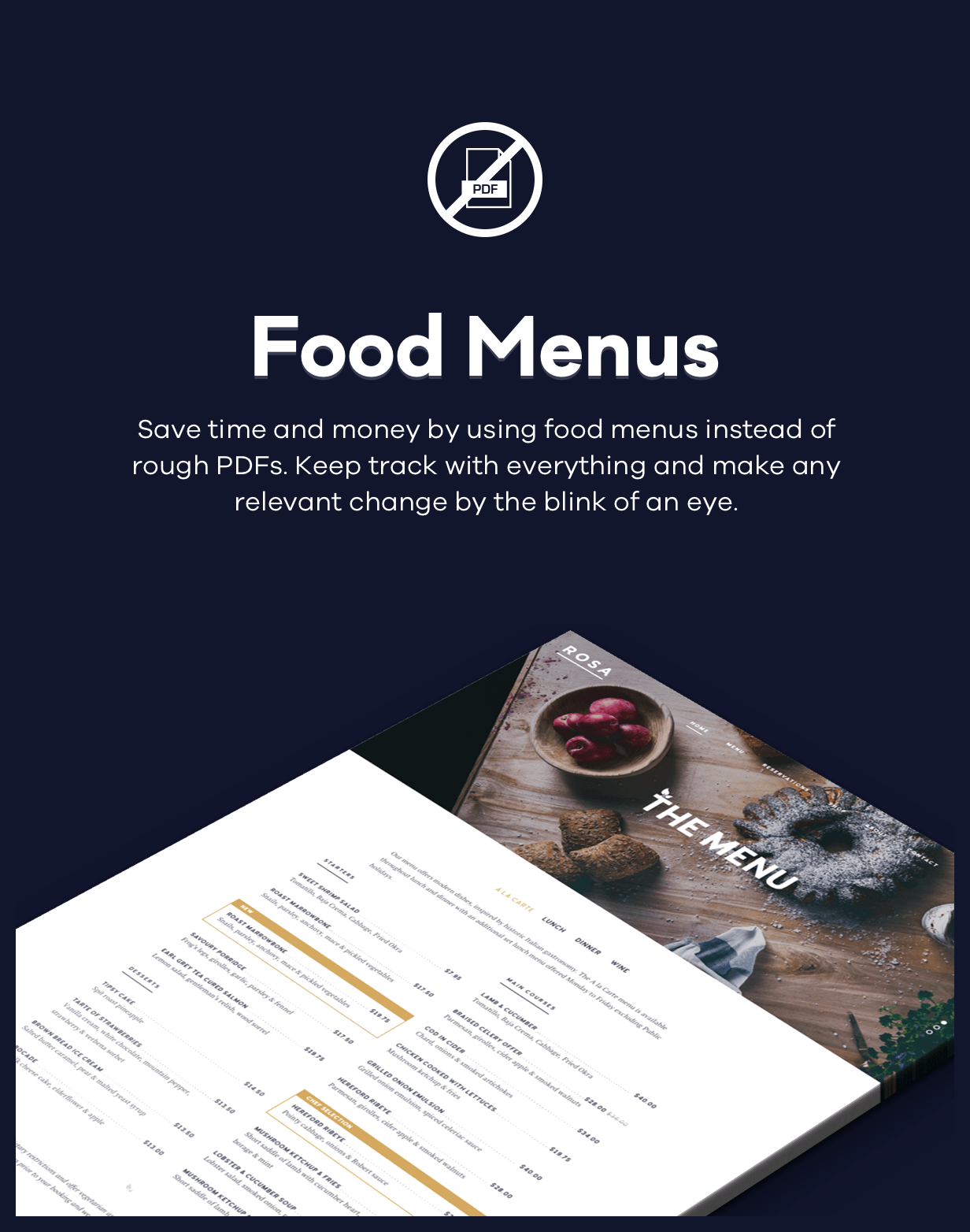 ROSA 1 - An Exquisite Restaurant WordPress Theme - 3