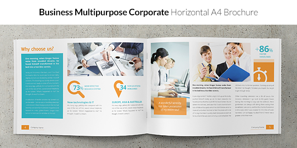 Business / Corporate Multi-purpose A4 Brochure
