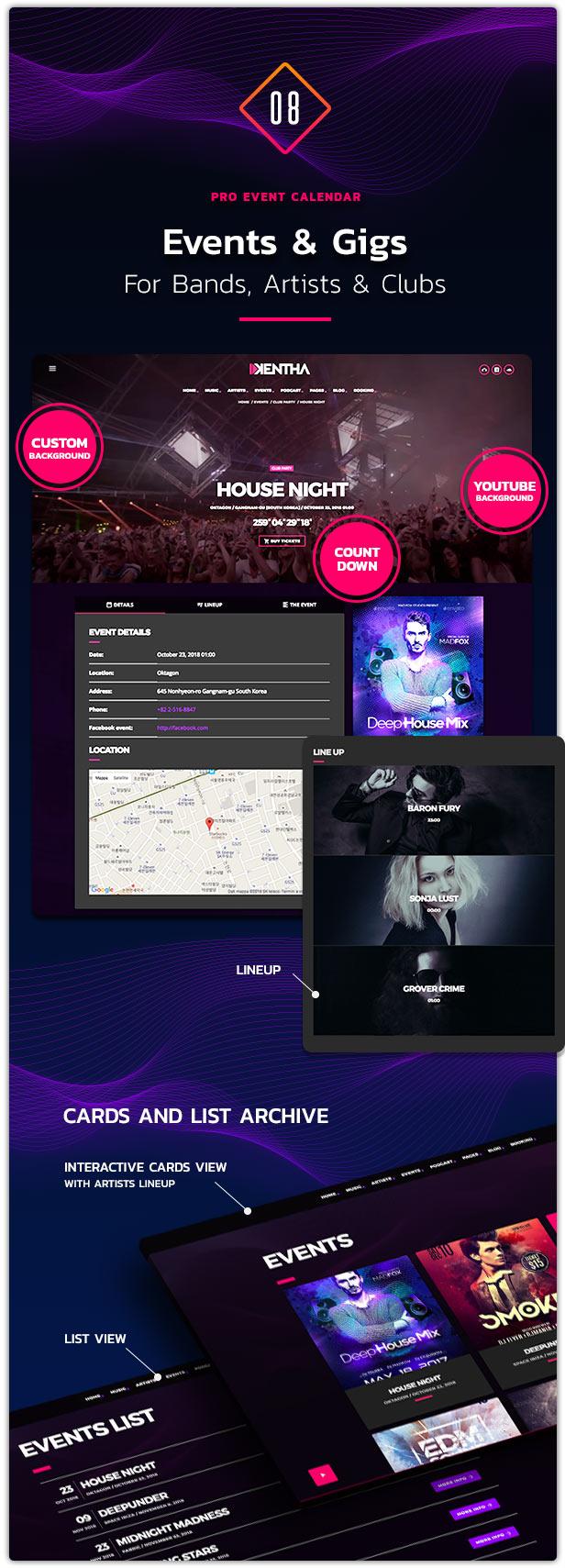 Kentha Music WordPress Theme 09