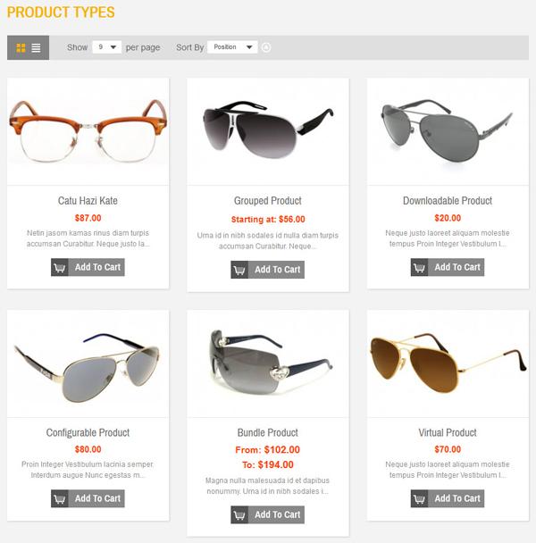 SM Glasses Responsive Magento Theme - 12