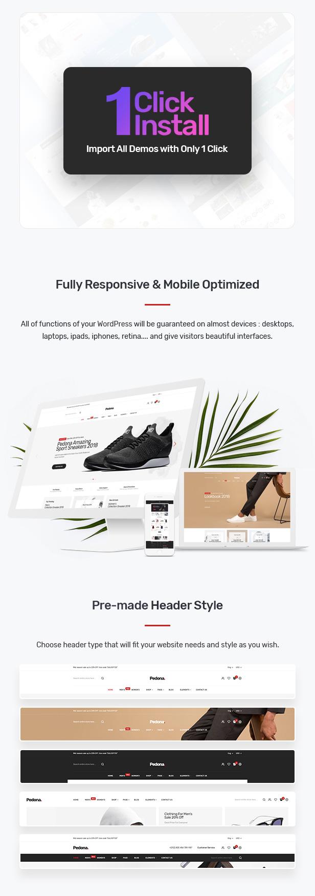 Pedona - Fashion & Sport Theme for WooCommerce WordPress 24