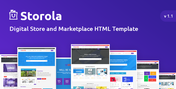 Storola - Digital Store and Marketplace HTML Template