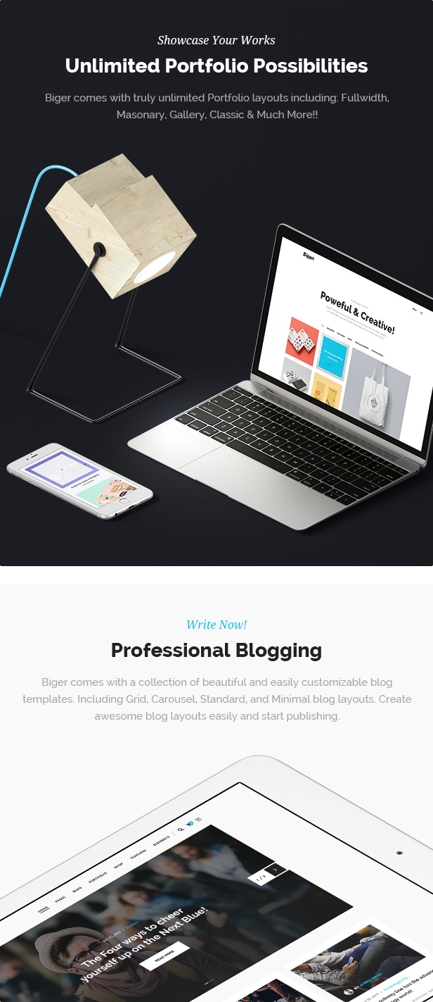Biger - Responsive Multi-Purpose WordPress Theme - 5