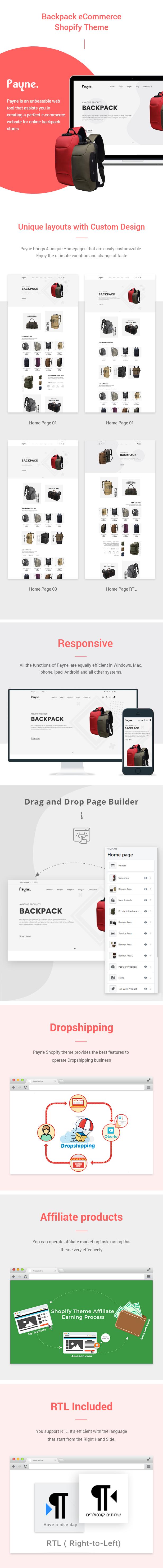 Payne - Backpack eCommerce Shopify Theme - 1