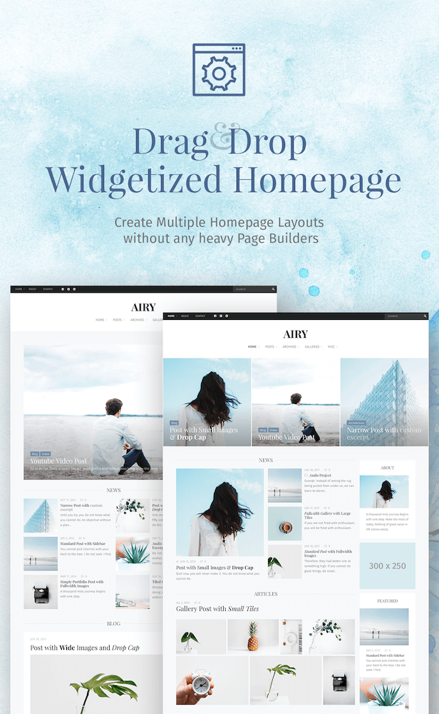 Widgetized Homepage