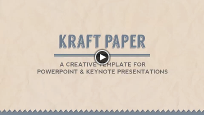 kraft paper powerpoint presentation template by 83munkis graphicriver