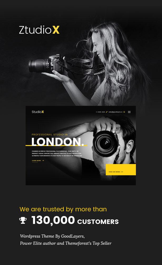 Ztudio X - Creative Studio Photography WordPress Theme For Photography (Studio X) - 1