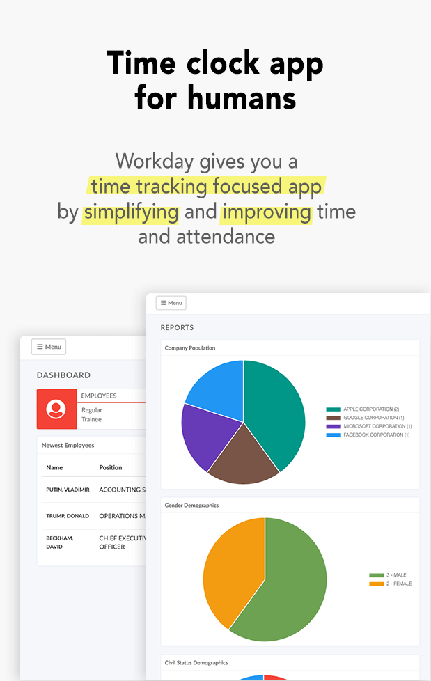 workday time clock app for humans