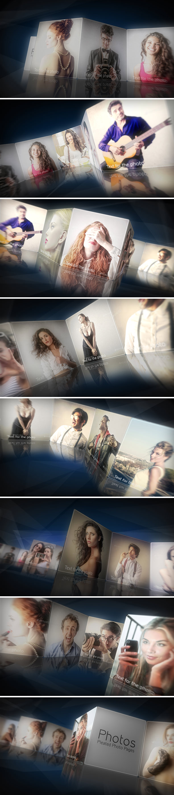 Elegant Slideshow Photo or Video Gallery After Effects Template