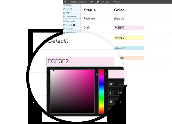 Color Status Post for Wordpress - 2