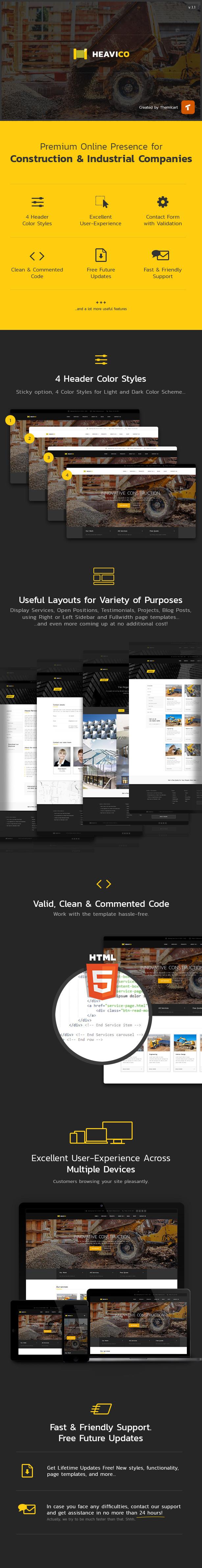 Heavico - Construction HTML Template