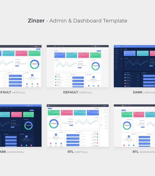 Zinzar - Admin Dashboard Template - 1