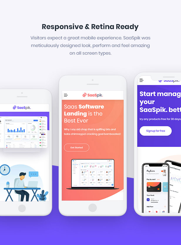 SaaSpik - App and SaaS landing HTML Template - 3
