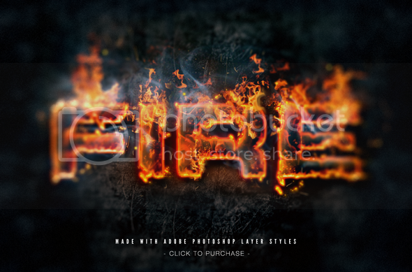 Hot Lava and Fire Layer Styles Text Effects - 1