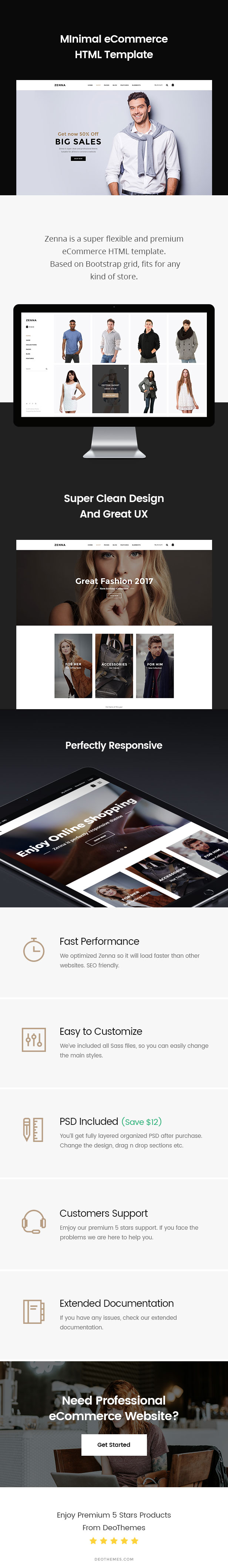 Zenna | Minimal E-commerce HTML Template by DeoThemes | ThemeForest