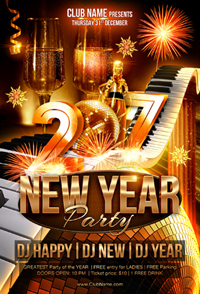 New Year Party Flyer Template - 18