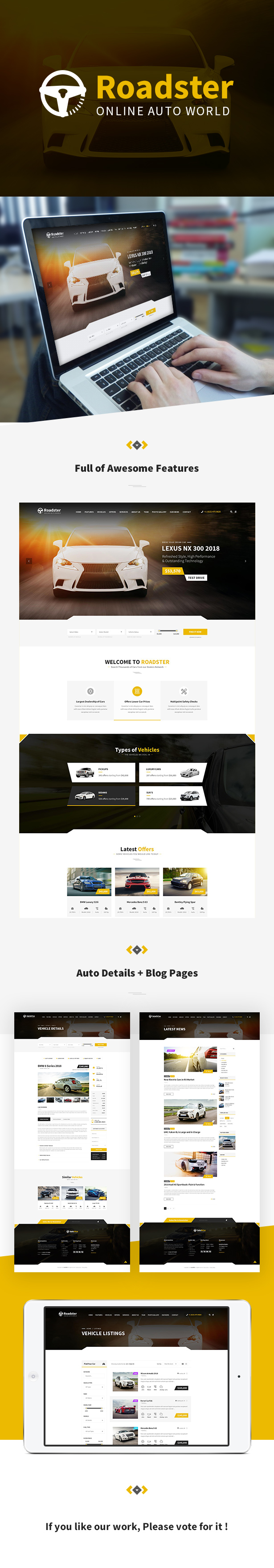 Roadster - PSD Template - 1