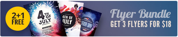 4th of July Flyer Bundle