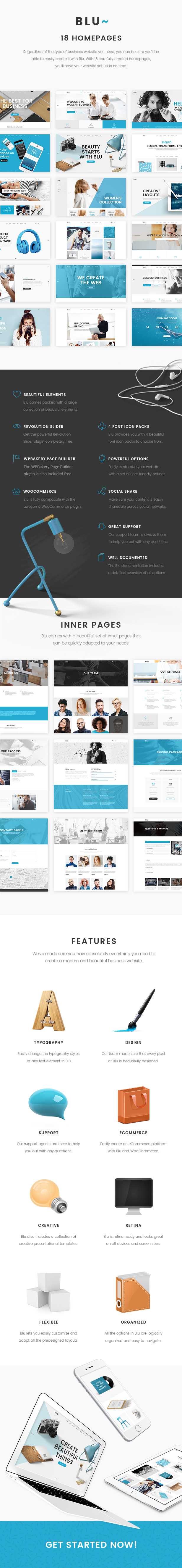 Blu - A Beautiful Business Theme for Agencies and Individuals - 1