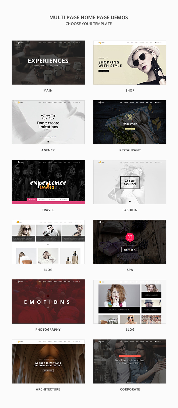 H-Code Multipurpose OnePage & Multi Page Template - 4