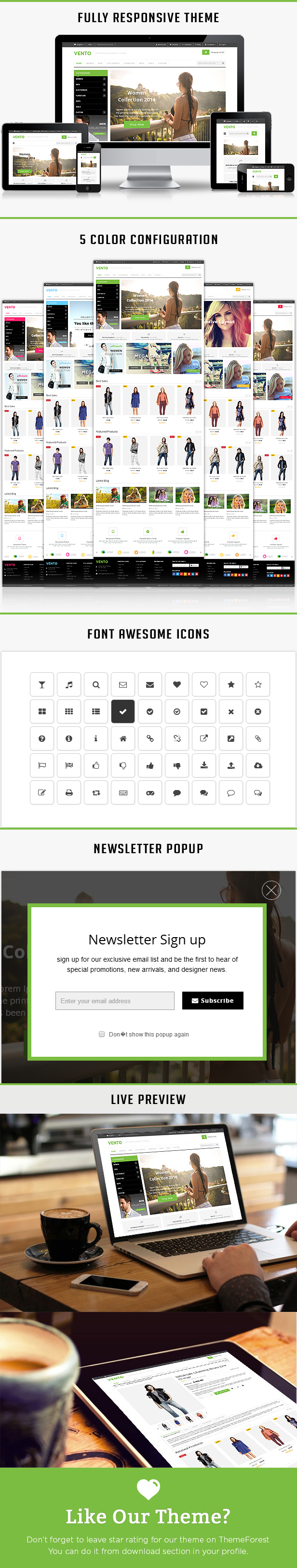 vento responsive html template