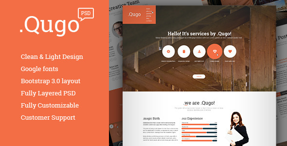 JJ -  One Page Multi Purpose Portfolio PSD Theme - 5